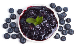 Jam from Blueberries Royalty Free Stock Photo