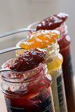 Jam bottles Royalty Free Stock Photography