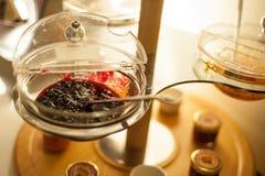 Jam in bowl Stock Photo