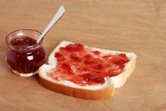 Jam and bread Stock Image