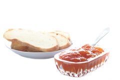 Jam and bread Royalty Free Stock Photo