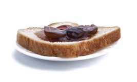 Jam on bread Stock Images