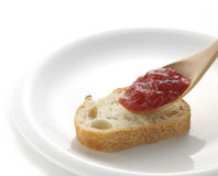 Jam on bread Royalty Free Stock Photography