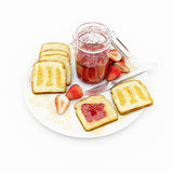 Jam and bread Stock Photography
