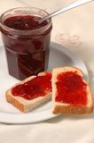 Jam and bread Royalty Free Stock Photos