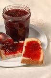 Jam with bread Royalty Free Stock Photos