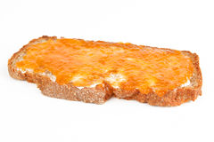 Jam bread. A bread with apricot jam Stock Photo