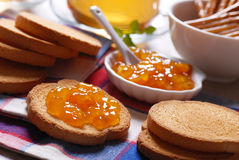 Jam for breakfast Royalty Free Stock Image