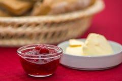 Jam butter bread Stock Photo