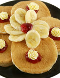 Jam And Butter Pancakes Royalty Free Stock Image