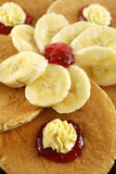 Jam And Butter Pancakes Stock Photography