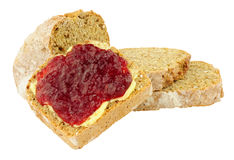 Jam And Buttered Bread Royalty Free Stock Photos