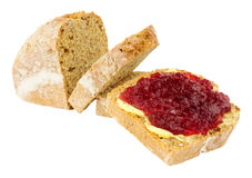 Jam And Buttered Bread Stock Images