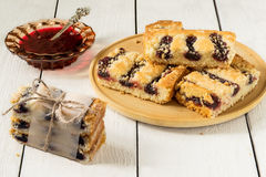 Jam and cake with jam Royalty Free Stock Photography