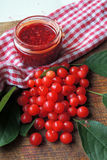 Jam with cherries Royalty Free Stock Photo