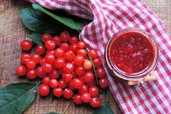 Jam with cherries Royalty Free Stock Images