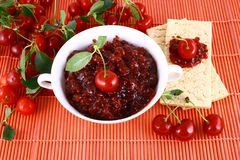 Jam cherry Stock Photography