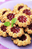 Jam cookies Stock Image
