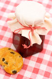 Jam with cookies Royalty Free Stock Images