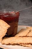 Jam and crackers Royalty Free Stock Photo