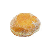 Jam donut. Jam donut isolated on white Stock Photos