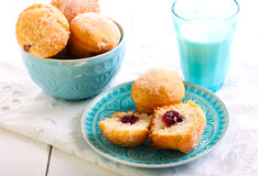 Jam Doughnut Muffins Royalty Free Stock Photos