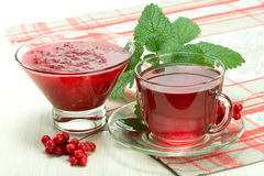 Jam and drink from Schisandra chinensis Stock Image