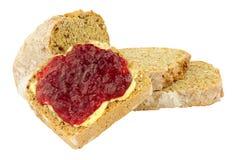 Jam en Beboterd Brood royalty-vrije stock foto's