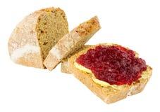 Jam en Beboterd Brood stock afbeeldingen