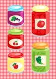 Jam en groenten in het zuur royalty-vrije illustratie