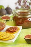 Jam from fig and citrus segments. Tasty jam from ripe fig and citrus segments Royalty Free Stock Photography