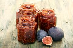 Jam of figs. Royalty Free Stock Image
