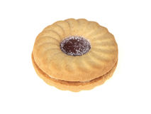 Jam filled Biscuit Royalty Free Stock Images