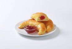 Jam filled butter croissants Stock Images