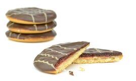 Jam filled chocolate soft cakes Royalty Free Stock Photos