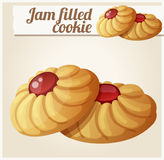 Jam filled cookie. Detailed vector icon Stock Photo