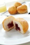 Jam filled donuts Royalty Free Stock Photography