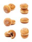 Jam filled doughnut isolated Royalty Free Stock Photos