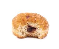 Jam filled doughnut isolated Stock Image