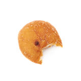 Jam filled doughnut isolated Royalty Free Stock Photo