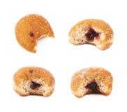Jam filled doughnut isolated Royalty Free Stock Image