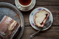 Jam Filled Pound Cake Royalty Free Stock Images