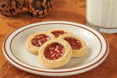 Jam filled shortbread cookies Royalty Free Stock Image