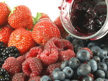 Jam with forest fruits Stock Images