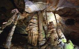 Jam formacje w wapnia cavern Zdjęcia Royalty Free