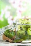 Jam with fresh juicy kiwi Royalty Free Stock Photography