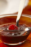 Jam with fresh raspberry Royalty Free Stock Photography