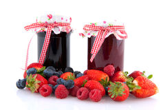 Jam with fruit Royalty Free Stock Photos