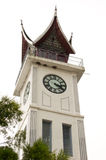 Jam Gadang, Bukittinggi white clock tower in central Bukittinggi. Jam Gadang, Bukittinggi white clock tower in central Bukittinggi, a city in the Minangkabau Stock Photos