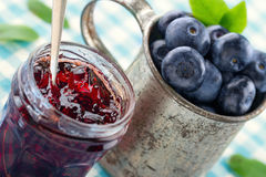 Jam in a glass jar Royalty Free Stock Photo